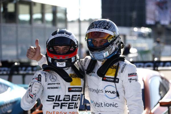 Pole sitter Lucas Auer, Mercedes-AMG Team HWA and Gary Paffett, Mercedes-AMG Team HWA.