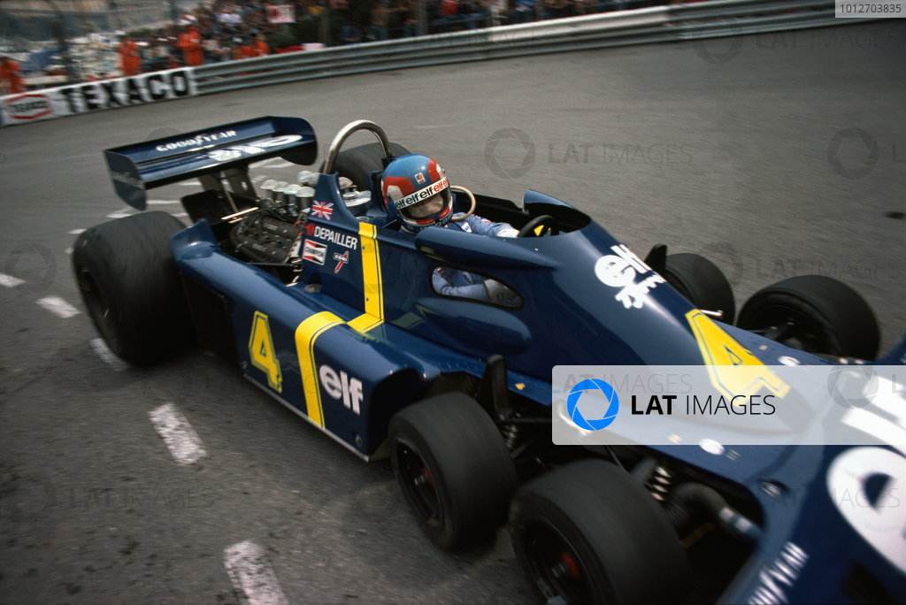 Monaco, Monte Carlo. 27th - 30th May 1976.Patrick Depailler (Tyrrell P34-Ford Cosworth), 4th position, action.World Copyright: LAT Photographic.ref: 35mm Transparency.