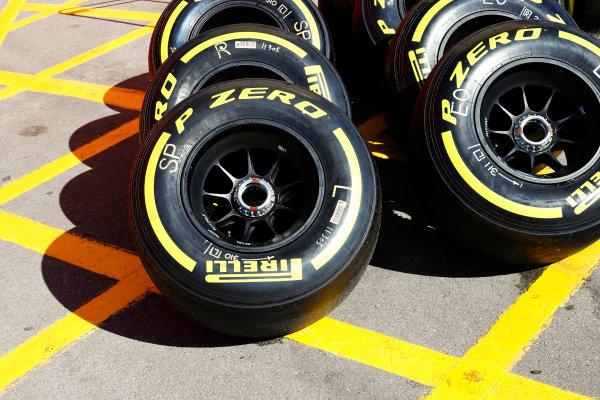 Circuit de Catalunya, Barcelona, Spain. Saturday 13 May 2017. Soft Pirelli tyres. World Copyright: Steven Tee/LAT Images ref: Digital Image _R3I2295