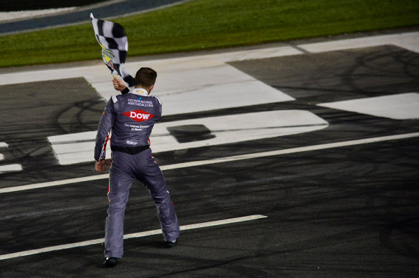 Monster Energy NASCAR Cup Series Coca-Cola 600 Charlotte Motor Speedway, Concord, NC USA Monday 29 May 2017 Austin Dillon, Richard Childress Racing, Dow Salutes Veterans Chevrolet SS, Celebrates after winning the Coke 600. World Copyright: David Yeazell LAT Images ref: Digital Image 17CLT2jh_04529