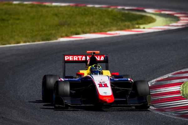 2016 GP3 Series Test 2. Circuit de Catalunya, Barcelona, Spain. Thursday 20 April 2017. Ryan Tveter (USA, Trident)  Photo: Zak Mauger/GP3 Series Media Service. ref: Digital Image _56I5454