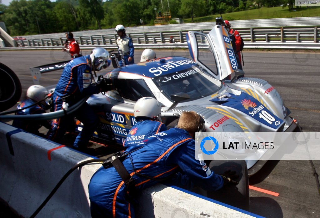30 May, 2011, Lakeville, Connecticut USA The #10 Chevrolet Dallara of Ricky Taylor and Max Angelelli  makes a pit stop. ©2011, R.D. Ethan LAT Photo USA