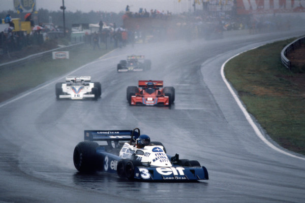 Zolder, Belgium. 3-5 June 1977. Ronnie Peterson (Tyrrell P34-Ford), 3rd position, action.  World Copyright: LAT Photographic. Ref: 77BEL09