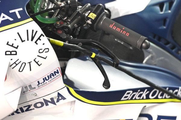 Karel Abraham, Avintia Racing, left finger brake.