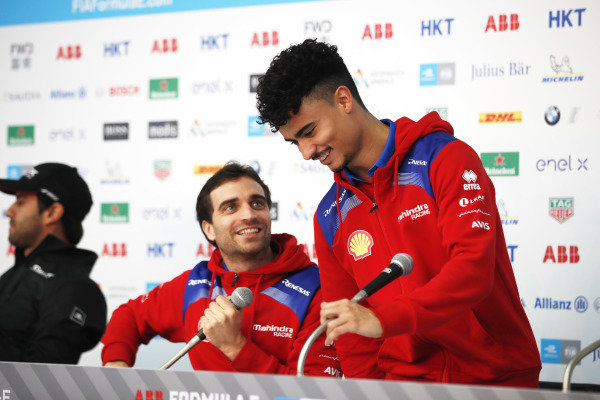 Jérôme d'Ambrosio (BEL), Mahindra Racing and Pascal Wehrlein (DEU), Mahindra Racing in the press conference