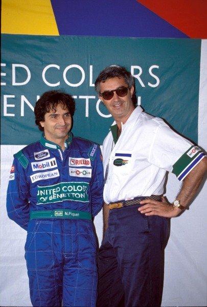 Nelson Piquet and Flavio Briatore.