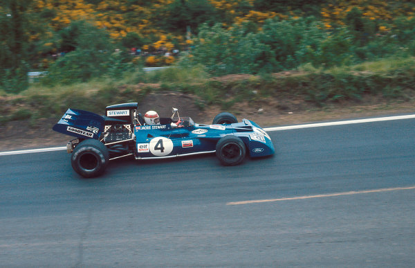 1972 French Grand Prix.Clermont-Ferrand, France.30/62/7 1972.Jackie Stewart (Tyrrell 003 Ford) 1st position.Ref-72 FRA 41.World Copyright - LAT Photographic