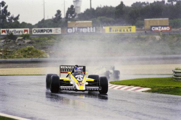 Patrick Tambay, Renault RE60, leads Derek Warwick, Renault RE60.