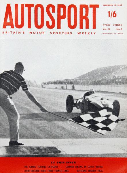 Cover of Autosport magazine, 19th February 1960