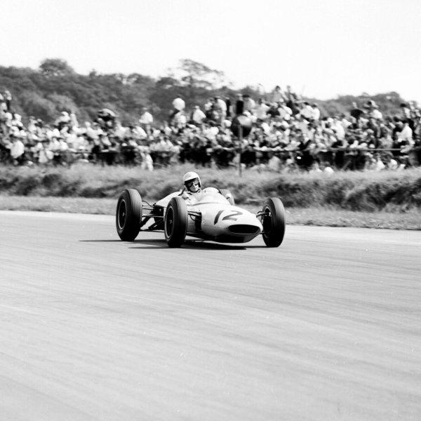 1963 British Grand Prix.Silverstone, England.18-20 July 1963.Jim Hall (Lotus 24 BRM) 6th position.Ref-20409.World Copyright - LAT Photographic