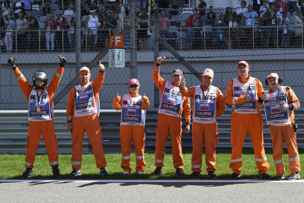 Marshals before the race