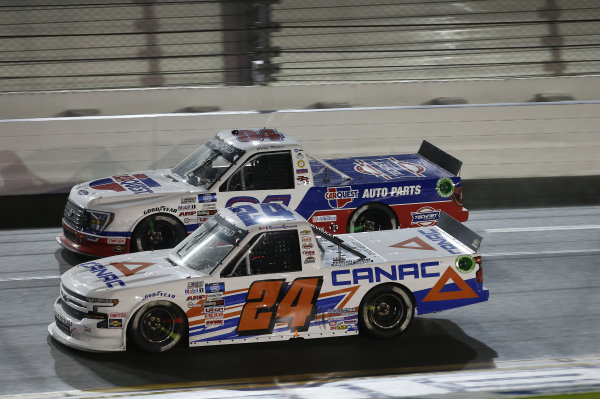 #24: Raphael Lessard, GMS Racing, Chevrolet Silverado CANAC, #04: Cory Roper, Roper Racing, Ford F-150