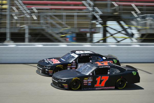 #17: Bayley Currey, Rick Ware Racing, Chevrolet Camaro RWR, #52: David Starr, Means Motorsports, Chevrolet Camaro ATS