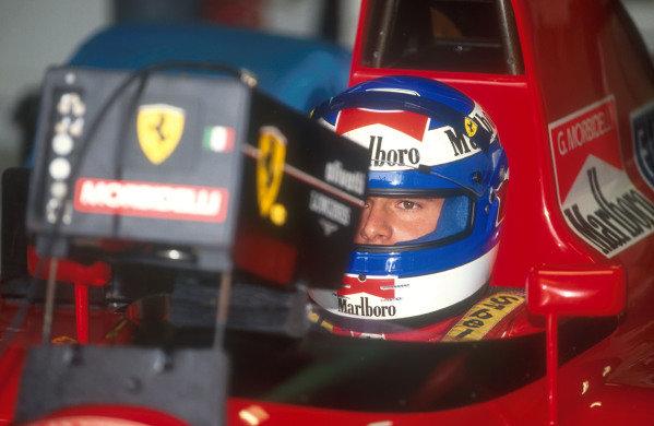 1991 Australian Grand Prix.Adelaide, Australia.1-3 November 1991.Gianni Morbidelli (Ferrari) 6th position in his only drive for Scuderia Ferrari.Ref-91 AUS 23.World Copyright - LAT Photographic