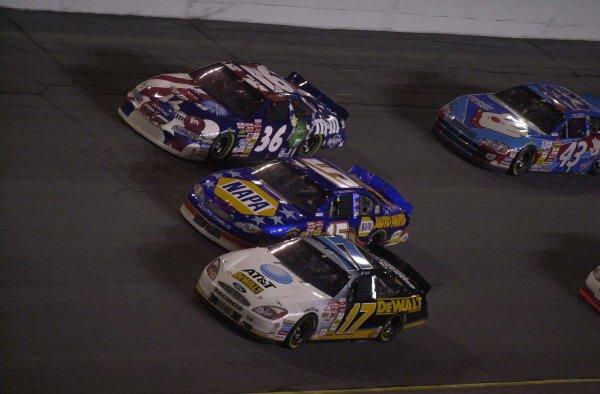 2001 NASCAR Daytona Speedway July 8 2001 USAMatt Kenseth (17), Michael Waltrip (15) and Ken Schrader (36)-Robert LeSieurLAT Photographic