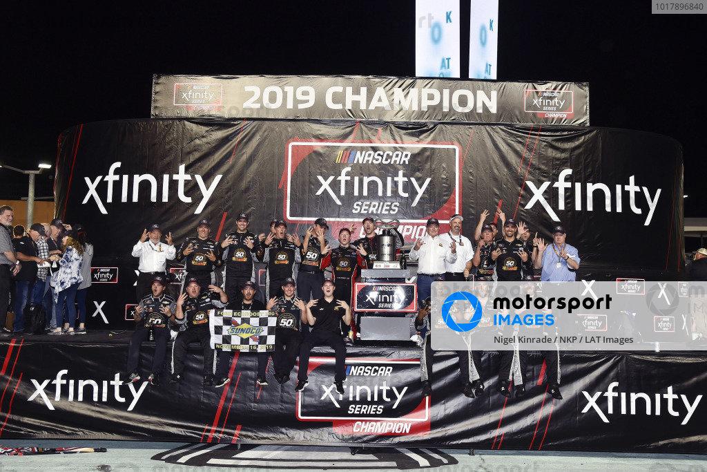 #2: Tyler Reddick, Richard Childress Racing, Chevrolet Camaro TAME the BEAST celebrates his Championship