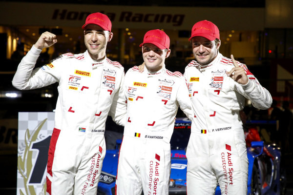 Winner #25 Audi Sport Team WRT Audi R8 LMS GT3 Evo: Dries Vanthoor, Kelvin van der Linde, Frédéric Vervisch.