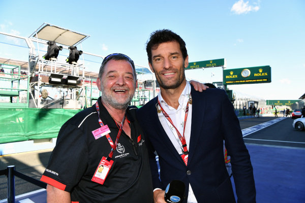 Paul Stoddart (AUS) and Mark Webber (AUS) at Formula One World Championship, Rd1, Australian Grand Prix, Race, Melbourne, Australia, Sunday 25 March 2018.