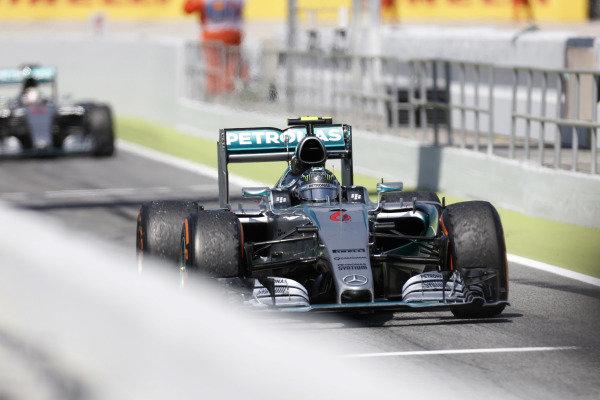 Circuit de Catalunya, Barcelona, Spain. Sunday 10 May 2015. Nico Rosberg, Mercedes F1 W06 Hybrid. World Copyright: Alastair Staley/LAT Photographic. ref: Digital Image _79P0521