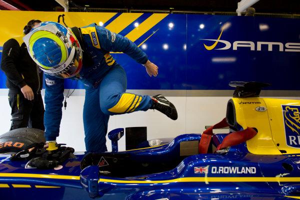 Circuit de Barcelona Catalunya, Barcelona, Spain. Tuesday 14 March 2017. Oliver Rowland (GBR, DAMS). Photo: Alastair Staley/FIA Formula 2 ref: Digital Image 580A0549