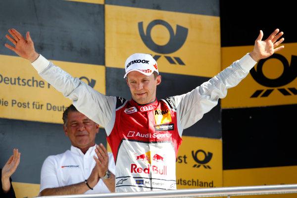 2017 DTM Round 2 Lausitzring, Germany. Sunday 21 May 2017. Podium: second place Mattias Ekstr?m, Audi Sport Team Abt Sportsline, Audi A5 DTM World Copyright: Alexander Trienitz/LAT Images ref: Digital Image 2017-DTM-R2-ESL-AT1-4672
