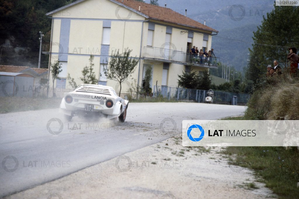 1979 World Rally Championship. Sanremo Rally, Italy. 1-7 October 1979. Tony Fassina/Mauro Mannini (Lancia Stratos), 1st position. World Copyright: LAT Photographic Ref: 35mm transparency 79RALLY08