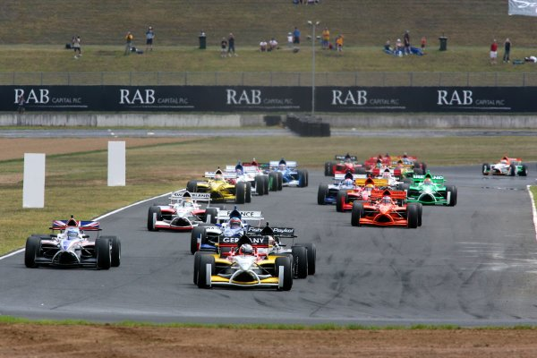 04.02 2007 Eastern Creek, Australia, Nico Hülkenberg, Driver of A1Team Germany leads at the start of the race - A1GP World Cup of Motorsport 2006/07, Round 7, Eastern Creek, Sunday Race 1 - Copyright A1GP - Free for editorial usage