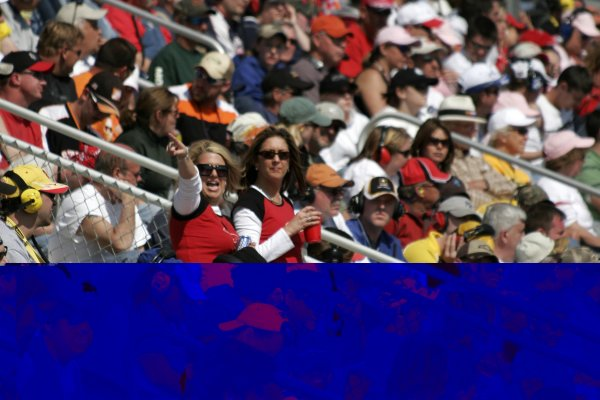 16-18 March 2007, Atlanta Motor Speedway, Atlanta, GAWooooo!!! Enthusiastic NASCAR crowd.©2007, Lesley Ann Miller, USALAT Photographic