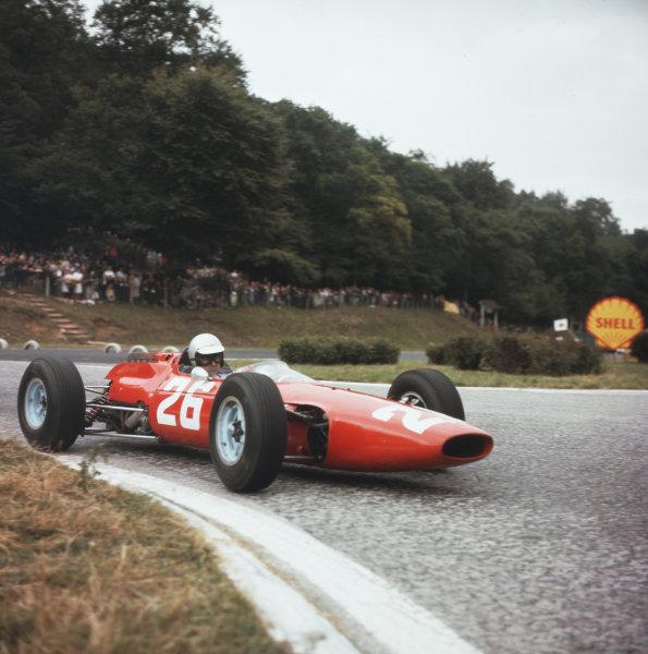 Rouen-les-Essarts, France.26-28 June 1964.Lorenzo Bandini (Ferrari 158).Ref-3/1303.World Copyright - LAT Photographic