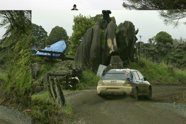 2006 FIA World Rally Champs. Round fifteenNew Zealand Rally.16th-19th November 2006.Natalie Barratt, Mitsubishi, action.World Copyright: McKlein/LAT