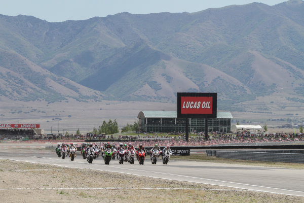 28 May 2012, Miller Motorsports Park, Tooele, Utah USARace startWorld Copyright: Covy Moore/LAT Photographic