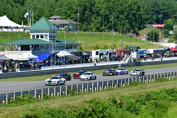 22-23 July, 2016, Lakeville, Connecticut USA 15, Ford, Shelby GT350R-C, GS, Scott Maxwell, Billy Johnson leads the field at start of the race. ?2016, Richard Dole LAT Photo USA