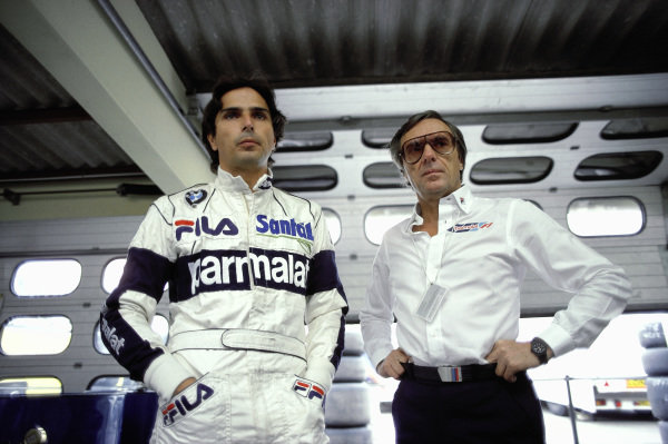 Nelson Piquet and Bernie Ecclestone.