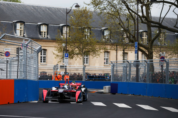 2015/2016 FIA Formula E Championship. Paris ePrix, Paris, France. Saturday 23 April 2016. Jean-Eric Vergne (FRA), DS Virgin Racing DSV-01 . Photo: Glenn Dunbar/LAT/Formula E ref: Digital Image _89P5473A