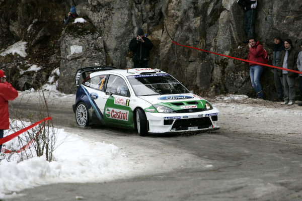 2005 FIA World Rally Champs. Round one, Rally Monte Carlo 20th-23rd January 2005. Toni Gardemeister, Ford, action World Copyright: McKlein/LAT