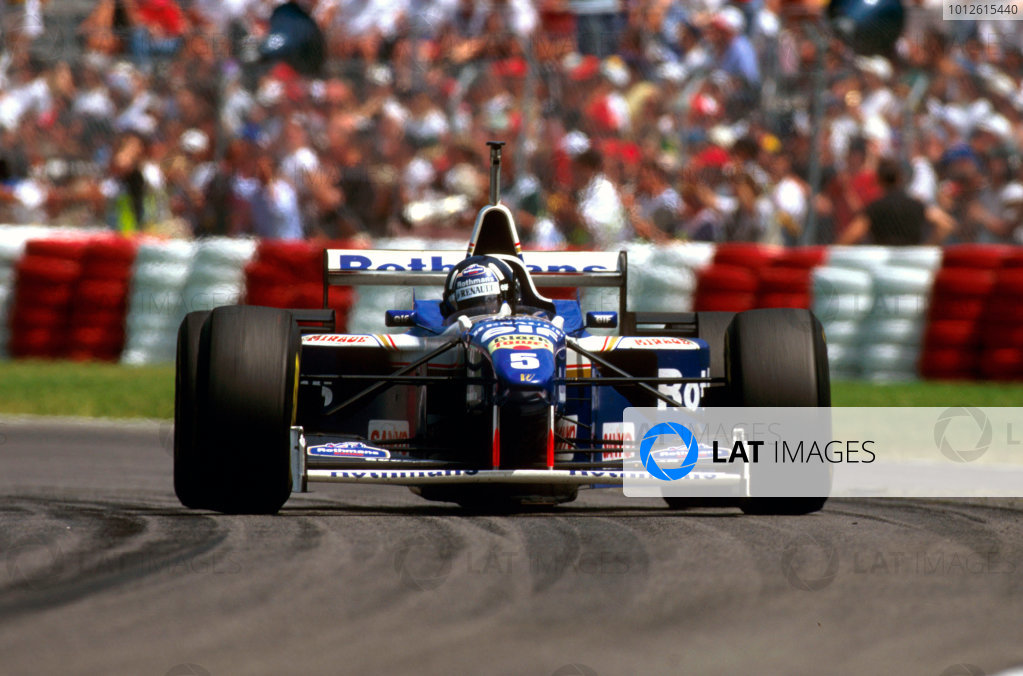 Montreal, Canada.14-16 June 1996.Damon Hill (Williams FW18 Renault) 1st position.Ref-96 CAN 08.World Copyright - LAT Photographic
