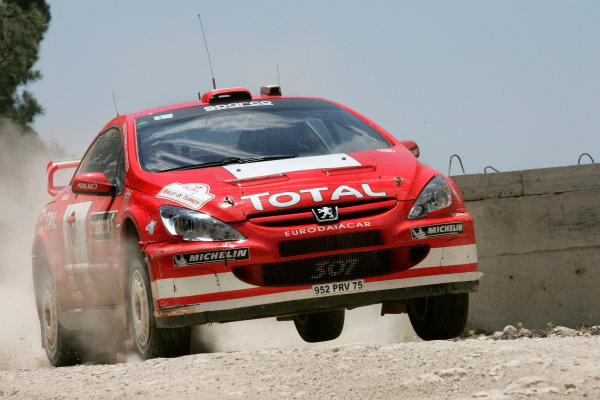 2004 FIA World Rally Champs. Round seven, Rally Turkey.24th- 27th June 2004.Marcus Gronholm,Peugeot, action.World Copyright: McKlein/LAT