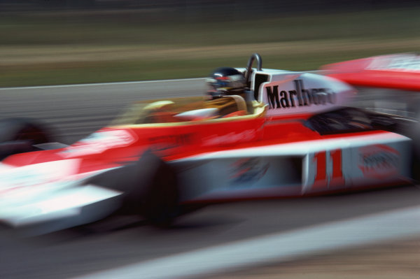 Zolder, Belgium. 14th - 16th May 1976. James Hunt (McLaren M23-Ford), retired, action. World Copyright: LAT Photographic.  Ref: 76 BEL 24.