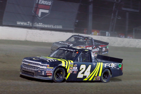NASCAR Camping World Truck Series Eldora Dirt Derby Eldora Speedway, Rossburg, OH USA Wednesday 19 July 2017 Justin Haley, Fraternal Order of Eagles Chevrolet Silverado and Noah Gragson, Switch Toyota Tundra World Copyright: Russell LaBounty LAT Images