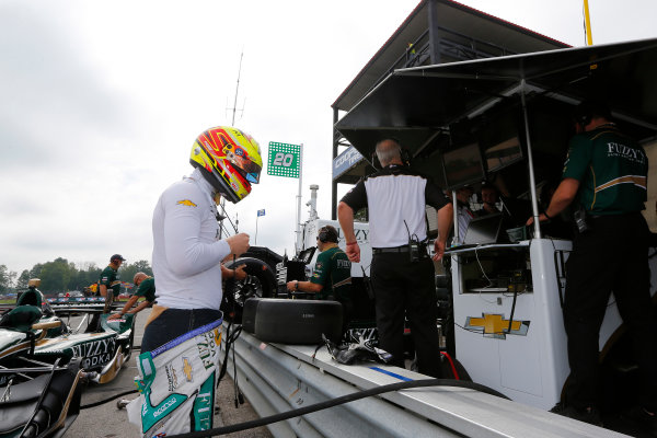 Verizon IndyCar Series Honda Indy 200 at Mid-Ohio Mid-Ohio Sports Car Course, Lexington, OH USA Friday 28 July 2017 Spencer Pigot, Ed Carpenter Racing Chevrolet World Copyright: Phillip Abbott LAT Images ref: Digital Image abbott_midohio_0717_0006