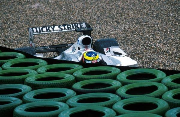 Ricardo Zonta (BRA) BAR  Honda 002 crashes out of the race German Grand Prix, Hockenheim, Germany, 30 July 2000