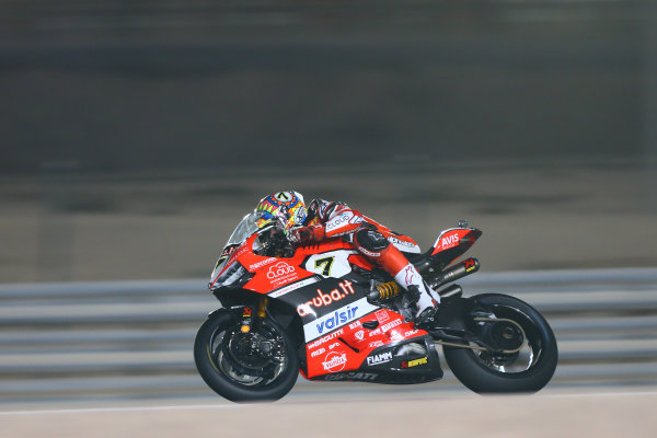 2017 Superbike World Championship - Round 13  Losail, Qatar.  Thursday 2 November 2017 Chaz Davies, Ducati Team  World Copyright: Gold and Goose Photography/LAT Images ref: Digital Image 703724