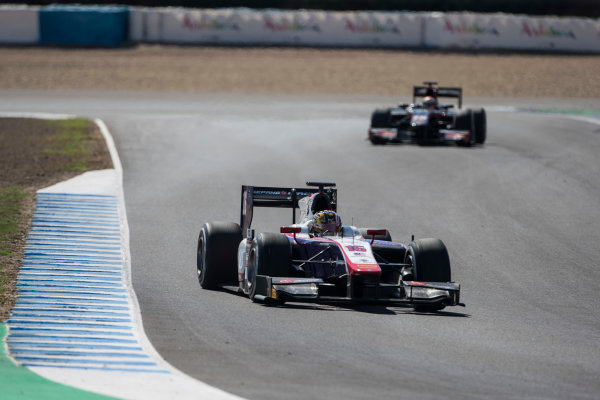 2017 FIA Formula 2 Round 10. Circuito de Jerez, Jerez, Spain. Saturday 7 October 2017. Nabil Jeffri (MAS, Trident).  Photo: Andrew Ferraro/FIA Formula 2. ref: Digital Image _FER1839