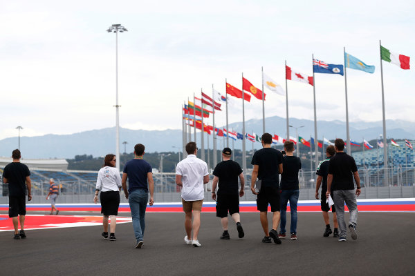 2014 GP3 Series. Round 8.   Sochi Autodrom, Sochi, Russia.  Wednesday 8 October 2014. Nick Yelloly (GBR, Status Grand Prix) & Richie Stanaway (NZL, Status Grand Prix)  Photo: Sam Bloxham/GP3 Series Media Service. ref: Digital Image _SBL6009