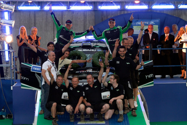 Round 8, Rally Finland, 28th - 30th July 2011Haydon Paddon, John Kennard, Subaru, PodiumWorldwide Copyright: LAT/McKlein