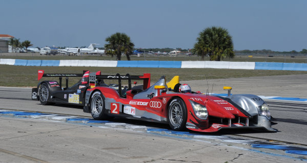 14-19 March 2011. Sebring, Florida USA#2  Audi Sport  Tean Joest Audi R15+©2011 Dan R. Boyd LAT Photo USA