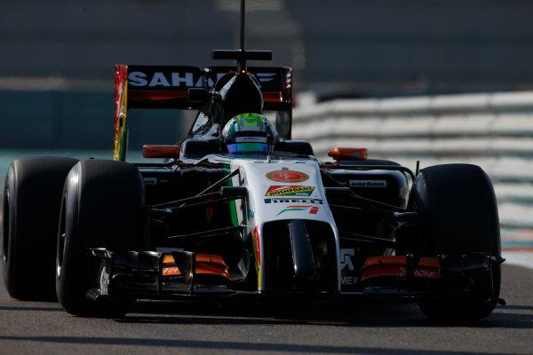 Yas Marina Circuit, Abu Dhabi, United Arab Emirates. Wednesday 26 November 2014. Spike Goddard, Force India VJM07 Mercedes. World Copyright: Glenn Dunbar/LAT Photographic. ref: Digital Image _89P8467