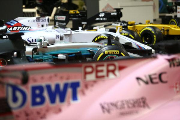 Autosport International Exhibition. National Exhibition Centre, Birmingham, UK. Sunday 14th January, 2018. The F1 Racing Stand.World Copyright: Mike Hoyer/JEP/LAT Images Ref: MDH19698