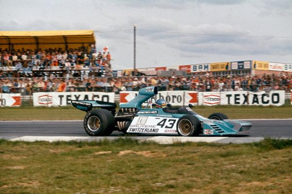 Nivelles-Baulers, Belgium. 12 May 1974.Gerard Larrousse (Brabham BT42 Ford), retired, action.World Copyright: LAT PhotographicRef: 74BEL14.