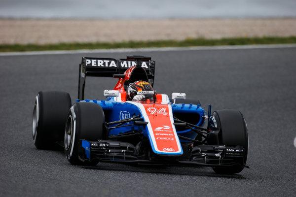 Circuit de Catalunya, Barcelona, Spain. Tuesday 17 May 2016. Pascal Wehrlein, Manor MRT 05 Mercedes.  Photo: Sam Bloxham/LAT Photographic. ref: Digital Image _L4R1982
